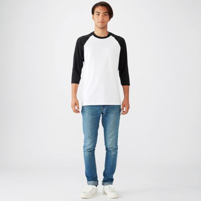 Premium Cotton 3/4 Sleeve Raglan Tee Thumbnail