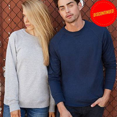 Unisex French Terry Raglan Crew Thumbnail